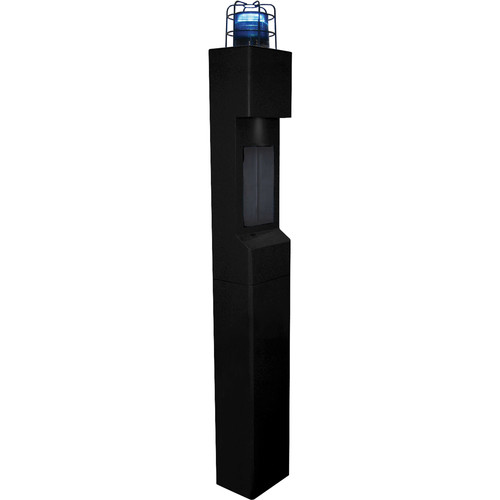 Aiphone TW-LC Steel Top Plate with Light Cage & Blue Beacon for TW-20, TW-22, or TW-23 Modular Towers (Black)