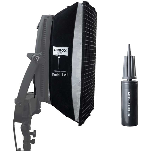 Airbox Model 1x1 Softbox with Eggcrate Louver and Hand Pump Kit