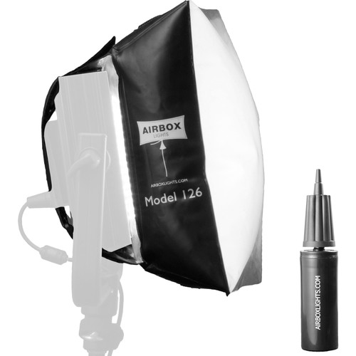 Airbox Model 126 Softbox Kit with Eggcrate Louver and Hand Pump