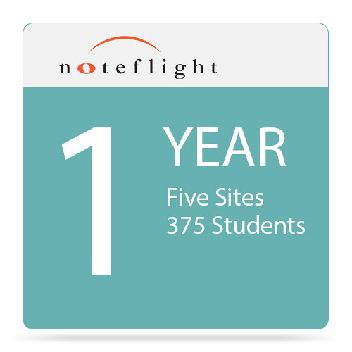 Noteflight Noteflight Music Instruction Teacher 1-Year Site License (5 Sites, 375 Students)