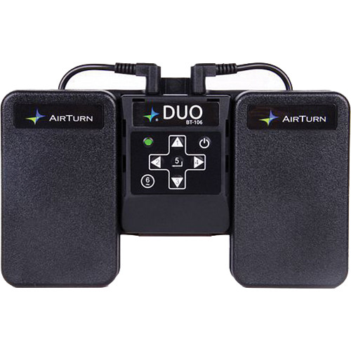 AirTurn DUO BT-106 Bluetooth Transceiver with Two Momentary Footswitches