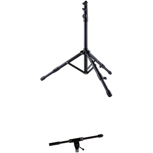 AirTurn goSTAND Portable Microphone Stand with Telescoping Boom Arm Kit