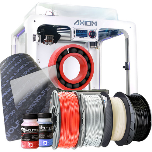 AIRWOLF Axiom All-in-One Dual 3D Printing System Bundle