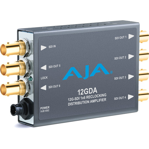 AJA 12GDA 12G-SDI 1x6 Reclocking Distribution Amplifier