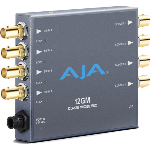 AJA 12GM 12G-SDI to/from SDI Muxer/DeMuxer