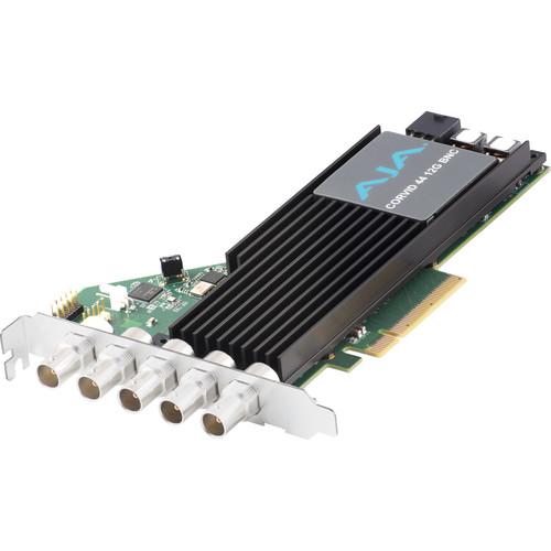 AJA Corvid 44 12G PCIe 4-Channel 12G-SDI Full-Size BNC I/O Card (Tall Bracket, Fan)