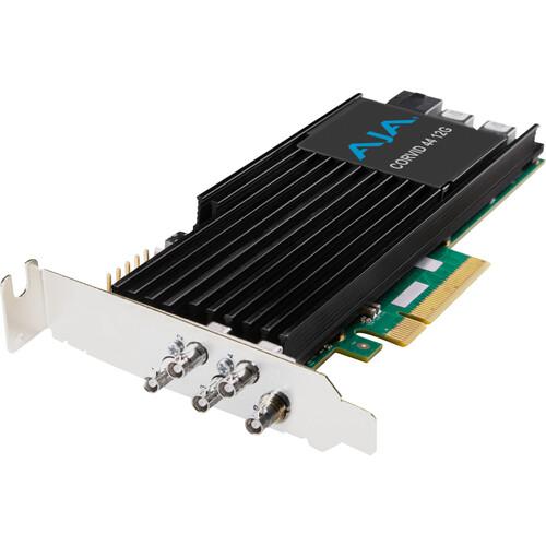 AJA Corvid 44 12G PCIe 4-Channel 12G-SDI Mini-BNC I/O Card (Short Bracket, Fan, Cables Included)