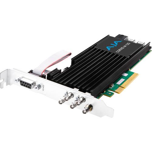 AJA Corvid 44 12G PCIe 4-Channel 12G-SDI Mini-BNC I/O Card (Tall Bracket, Fan, Cables Included)