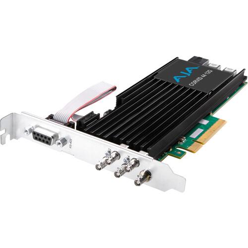 AJA Corvid 44 12G PCIe 4-Channel 12G-SDI I/O Mini-BNC Card (Tall Bracket, Fanless, No Cables)