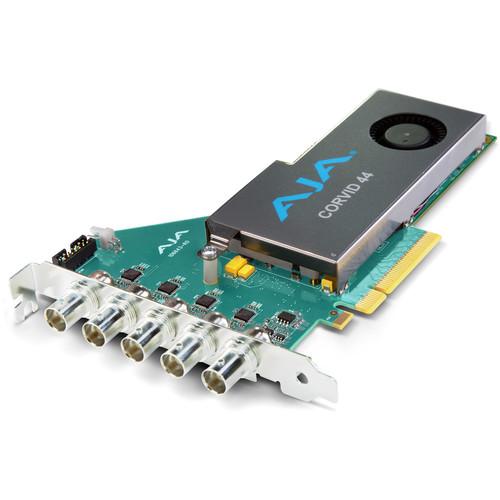 AJA Corvid 44 BNC Flexible Multi-Format I/O Card with Fan