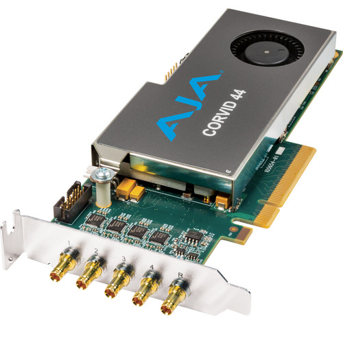 AJA Corvid 44 Low-Profile 8-Lane PCIe Express Gen 2.0 Card (With Cable)