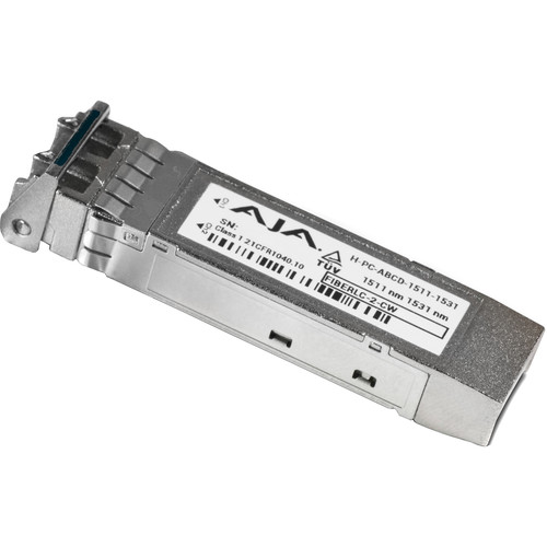AJA FIB-2CW-5961 CWDM Small Form-Factor Pluggable Module with LC Connector (Single Mode, 1591/1611nm)