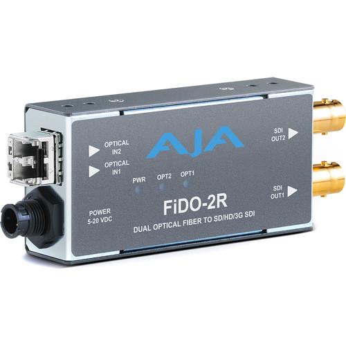 AJA 2-Channel Multi-Mode LC Fiber to 3G-SDI Receiver