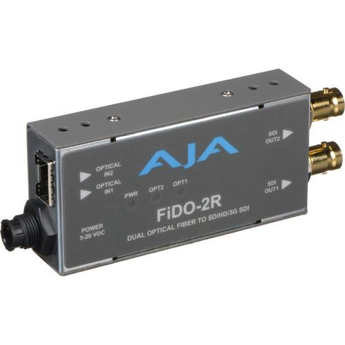 AJA FiDO Dual-Channel LC Fiber to 3G-SDI Mini Converter (No SFP Module)