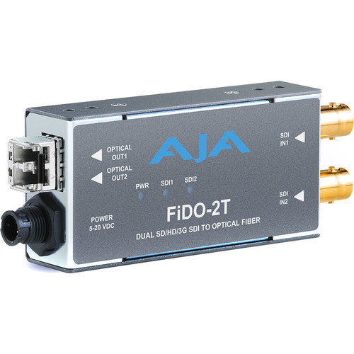 AJA 2-Channel 3G-SDI to Multi-Mode LC Fiber Transmitter