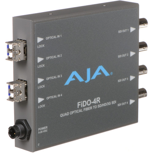 AJA FiDO Quad-Channel LC Fiber to 3G-SDI Mini Converter