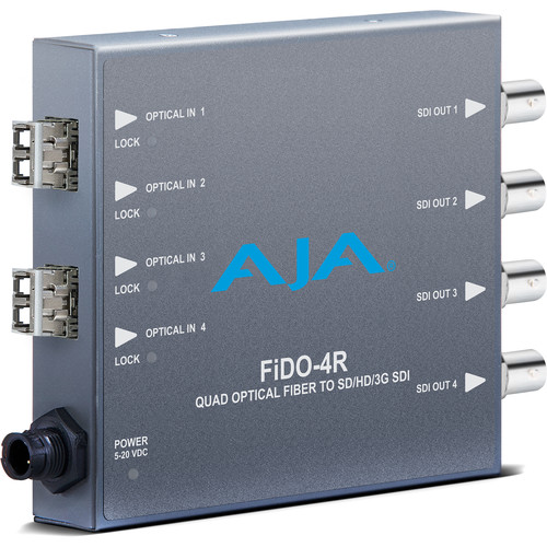 AJA FiDO Quad-Channel LC Fiber to 3G-SDI Mini Converter (No SFP Module)