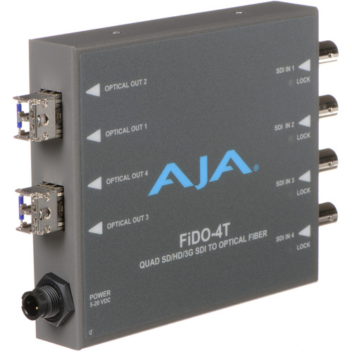 AJA FiDO Quad-Channel 3G-SDI to LC Fiber Mini Converter