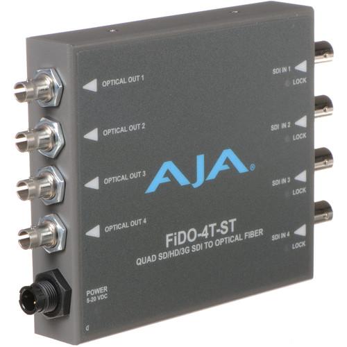 AJA FiDO Quad Channel 3G-SDI to ST Fiber Mini Converter