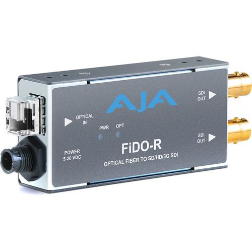 AJA 1-Channel Multi-Mode LC Fiber to 3G-SDI Receiver