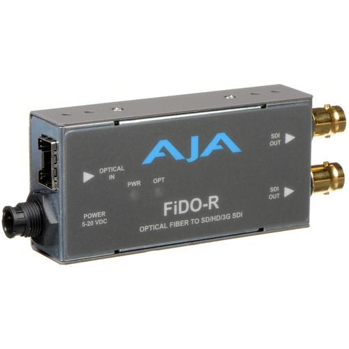 AJA FiDO Single-Channel LC Fiber to 3G-SDI Mini Converter (No SFP Module)