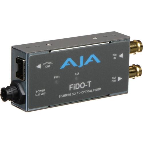 AJA FiDO Single-Channel 3G-SDI to LC Fiber Mini Converter (No SFP Module)
