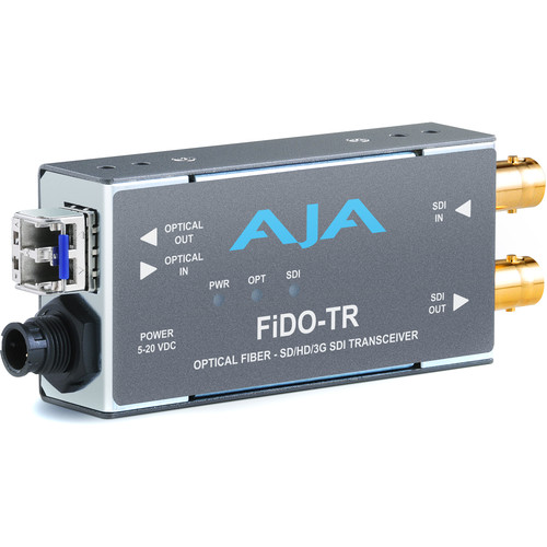 AJA FiDO Single-Channel 3G-SDI / LC Fiber Transceiver (No SFP Module)