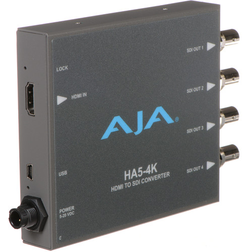AJA HA5-4K 4K HDMI to 4K SDI Mini-Converter