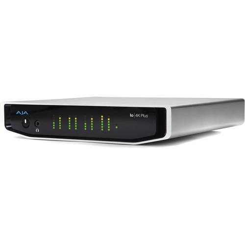 AJA Io 4K Plus Professional Video I/O for Thunderbolt 3