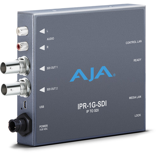 AJA JPEG 2000 IP Video & Audio to 3G-SDI Converter