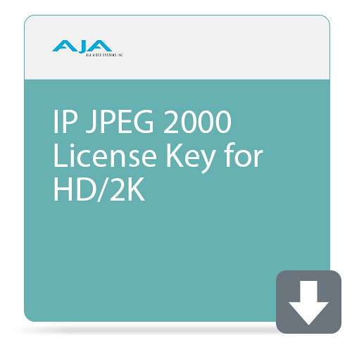 AJA KONA IP JPEG 2000 License Key for HD/2K (DCI) (Download)
