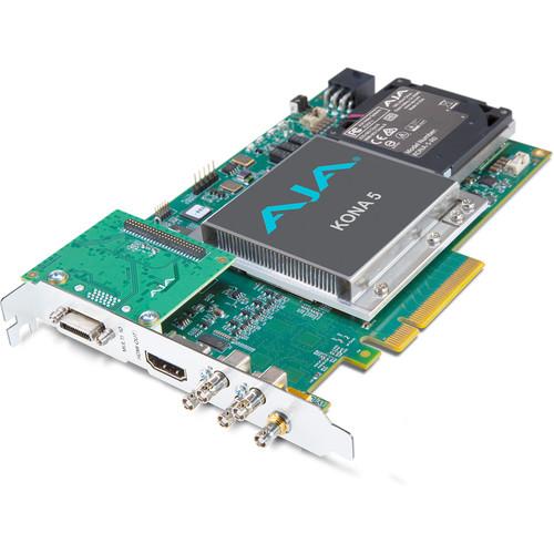 AJA 12G-SDI I/O, 10-Bit PCIE Card, HDMI 2.0 Output W/ HFR Support (PCIE Power)