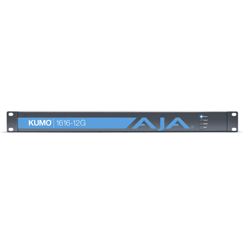 AJA Kumo 16x16 Compact 12G-SDI Router With 1 Power Supply