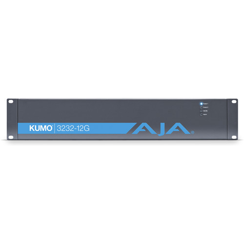 AJA Kumo 32 x32 Compact 12G-SDI Router With 1 Power Supply