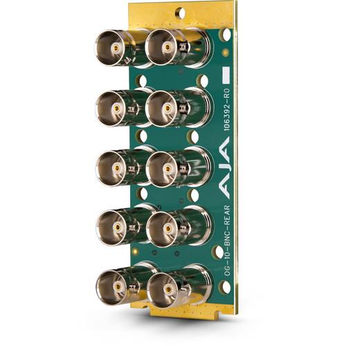 AJA 10-BNC openGear Rear Connector Module