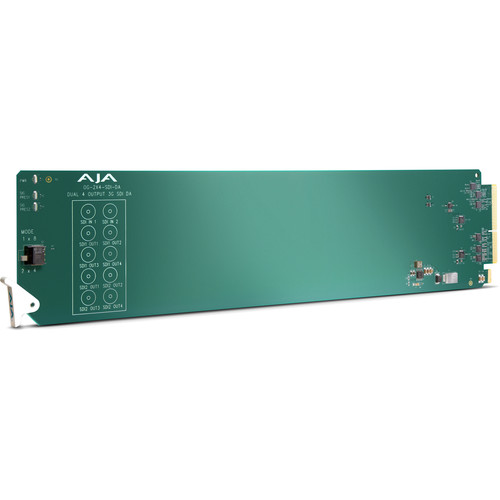 AJA openGear Dual 1x4 3G-SDI Reclocking Distribution Amplifier