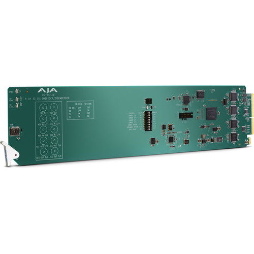 AJA Eight-Channel AES Audio Embedder/Disembedder