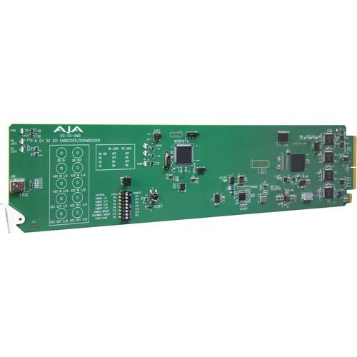 AJA 3G-SDI 8-Channel 24-Bit AES EmbedderWith Disembedder Card