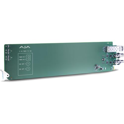 AJA openGear 2-Channel Multi-Mode LC Fiber to 3G-SDI Receiver
