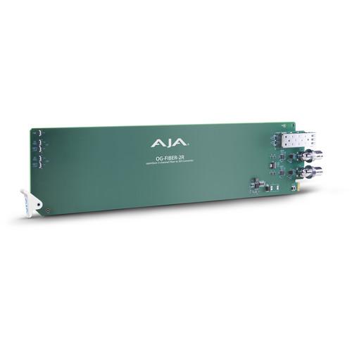 AJA openGear 2-Channel Fiber to SDI Converter (Receiver)