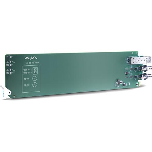 AJA openGear 2-Channel 3G-SDI to Multi-Mode LC Fiber Transmitter