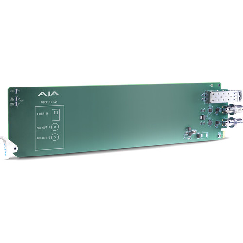 AJA openGear 1-Channel Multi-Mode LC Fiber to 3G-SDI Receiver