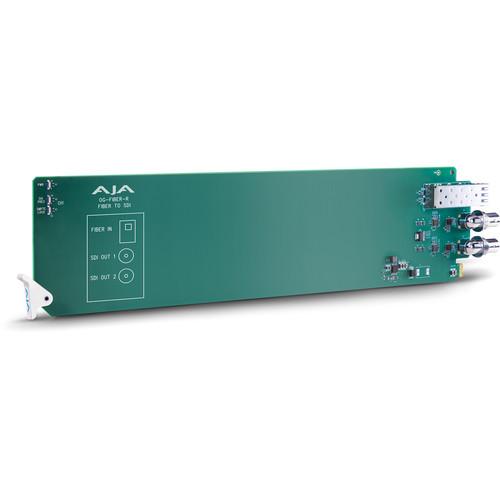 AJA openGear 1-Channel Fiber to SDI Converter