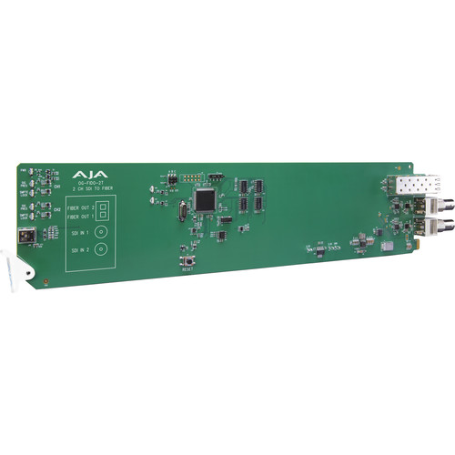 AJA 2-Channel 3G-SDI To Single Mode LC Fiber Transmitter For CWDM With Dashboard Support