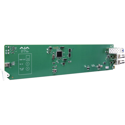 AJA 1-Channel 3G-SDI To Single Mode LC Fiber Transmitter With Dashboard Support