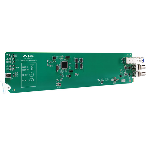 AJA 1-Channel 3G-SDI/LC Single Mode LC Fiber Transceiver With Dashboard Support