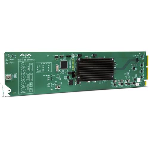 AJA openGear Ultra HD 4K/2K/HD/SD HDMI 2.0 to 3G-SDI Conversion with DashBoard Support