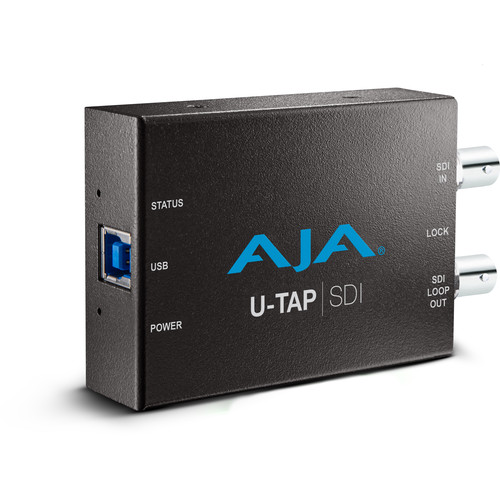 AJA U-TAP USB 3.1 Gen 1 Powered SDI Capture Device
