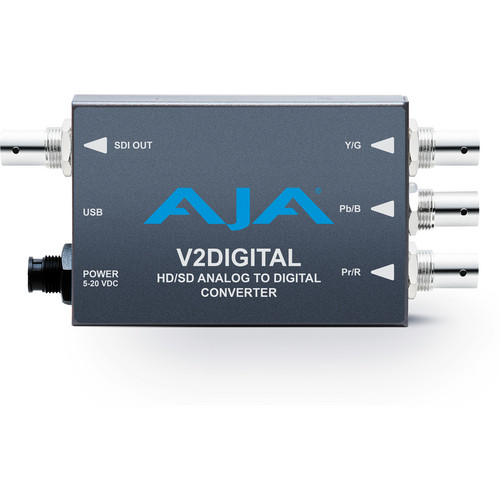 AJA V2Digital Analog to HD/SD-SDI Mini-Converter
