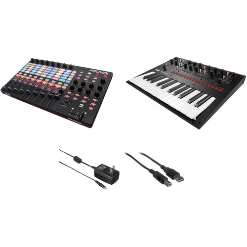Akai Professional APC40 mkII Kit with Korg Monologue Analog Synthesizer and Accessories